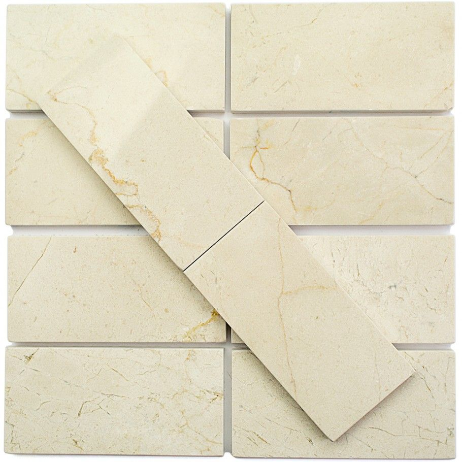 Crema Marfil 3 X 6 Polished Marble Tile