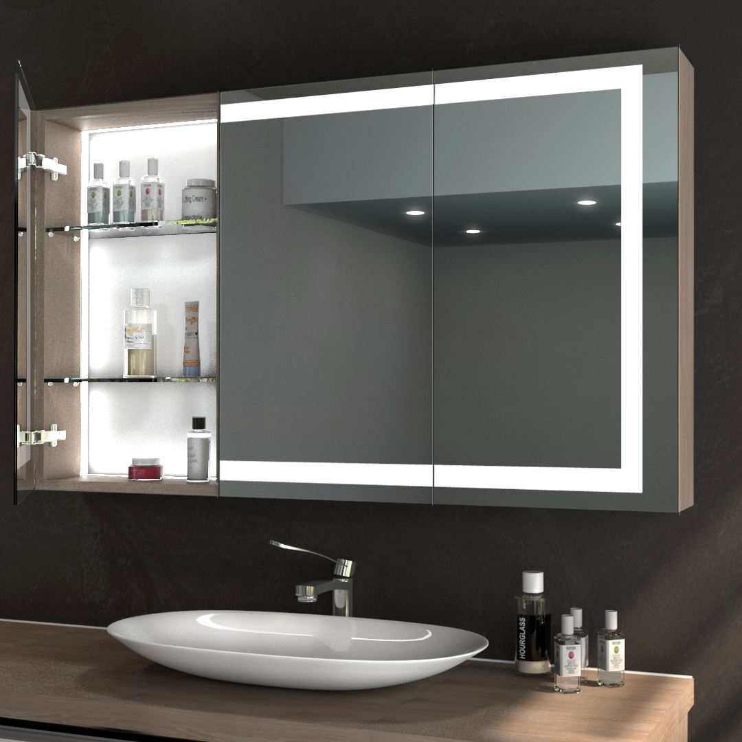 Bathroom mirror cabinet online micro cloth for glasses