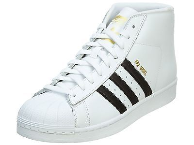 Adidas Pro Model Mens S85956 White Black Shell Toe Shoes Sneakers Size 12