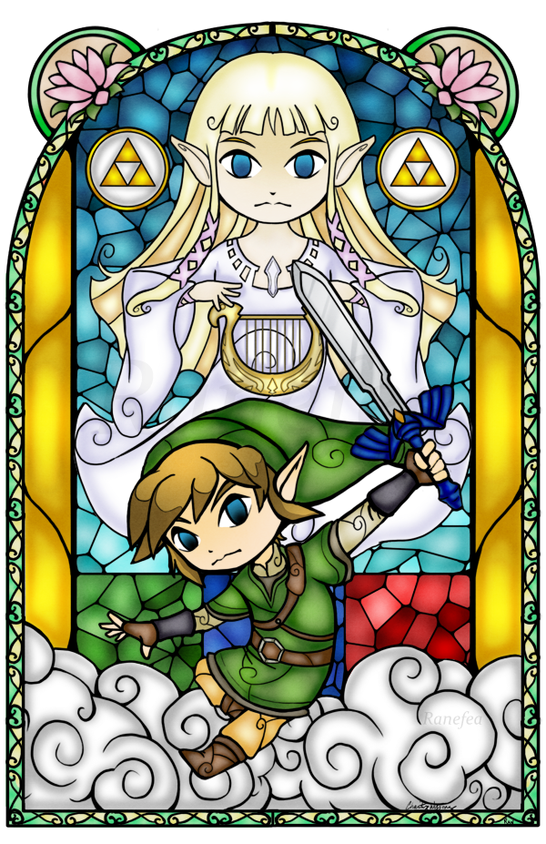 Skyward Sword Stained Glass by on
