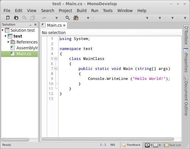 monodevelop ide ubuntu