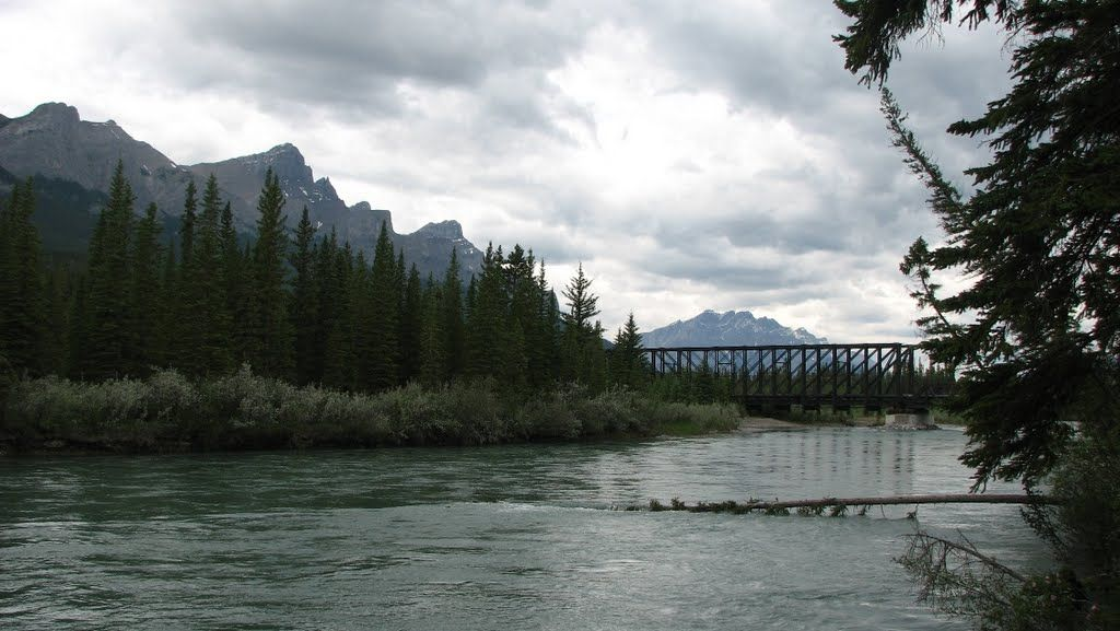 Old Train Bridge Bow River, Canmore, AB