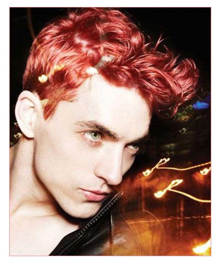 Mens Short Hairstyles For Dark Hair Plus Very Short Men Hairstyles Red Hair Men Men Hair Color Dyed Hair Men