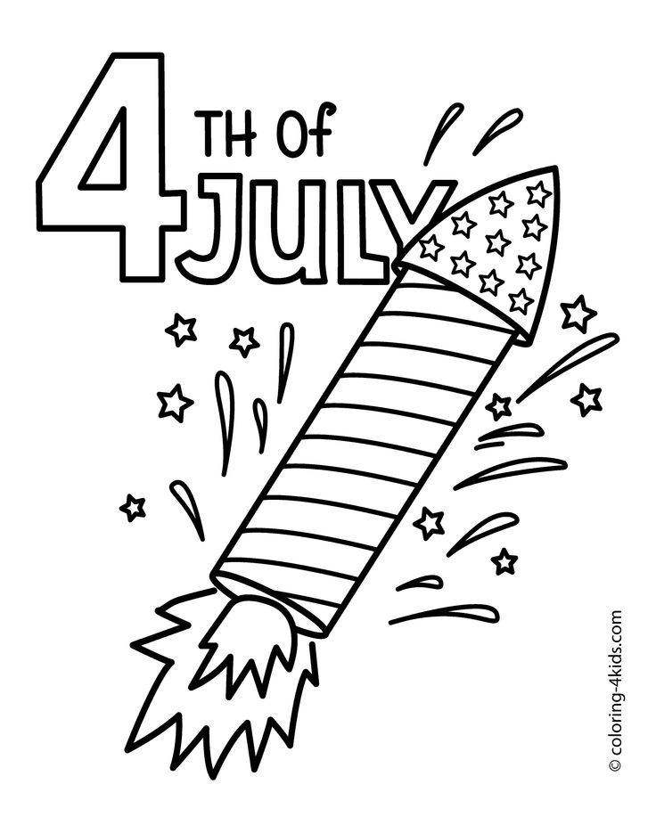 4thofJuly the 4th of July coloring pages. USA independence ...