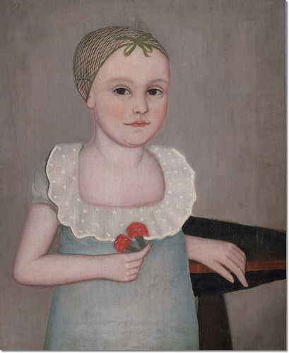 Ammi Phillips - Henrietta Dorr Painting