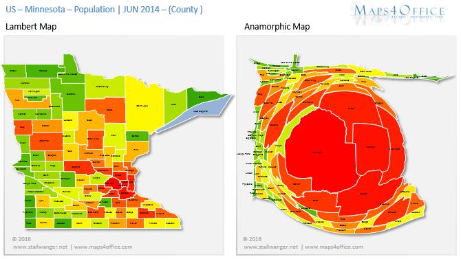 USA Minnesota Population Map County Heatmap State In America - Us population heat map