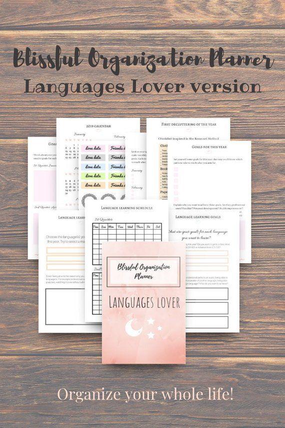 Polyglot Bundle Workbook + Ebook, Printable, Templates