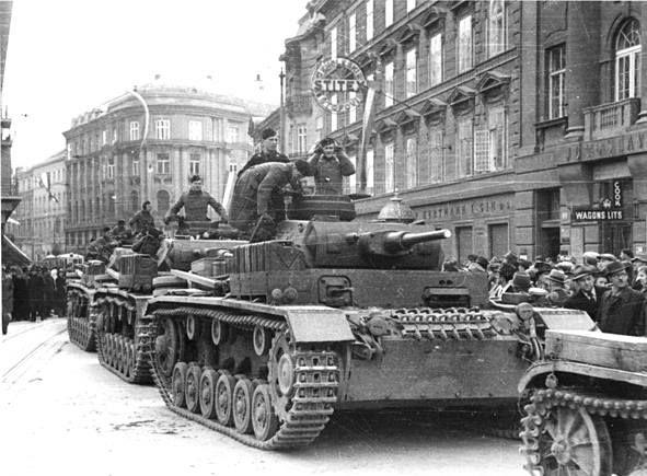 Wwii 1941 Croatia Ndh Zagreb Trg Bjj Ulazak Nacista