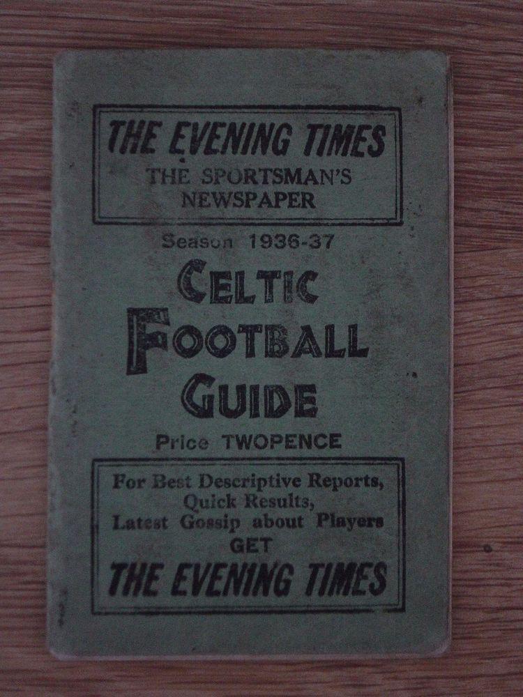 1936/37 GLASGOW CELTIC FOOTBALL GUIDE   eBay