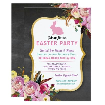 Bunny easter party egg hunt invitation florals floral gifts flower bunny easter party egg hunt invitation florals floral gifts flower flowers gift ideas negle Images