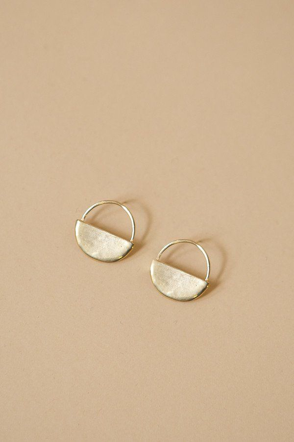 The Sol Post Earrings From Seaworthy Feature Posts Made Of Br With Half Circle Shape By Hand Start To Finish Solders