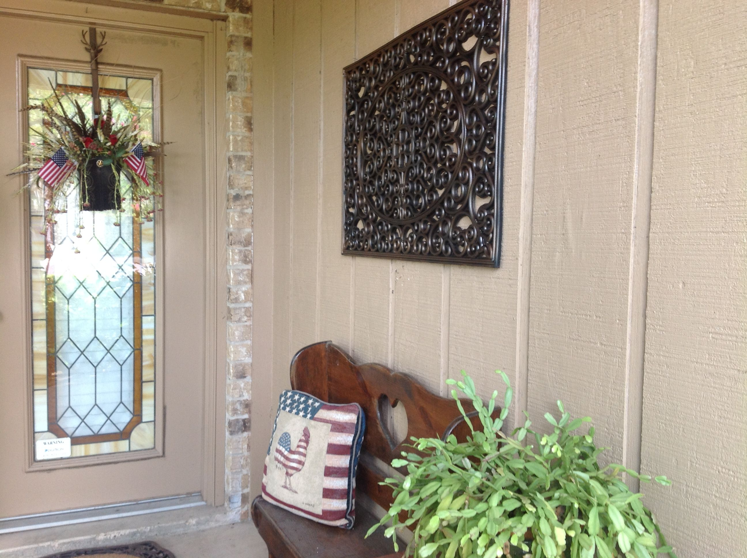 Door mat as wall art