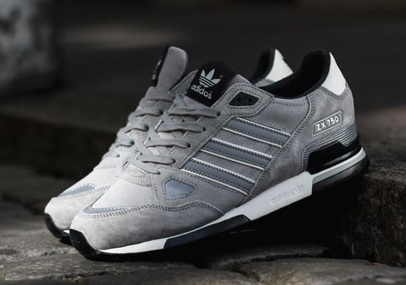 New Adidas Zx Silver Adidas Originals Zx 750 Silver Black Sneakernews Com Adidas Coole Schuhe Adidas Zx 700
