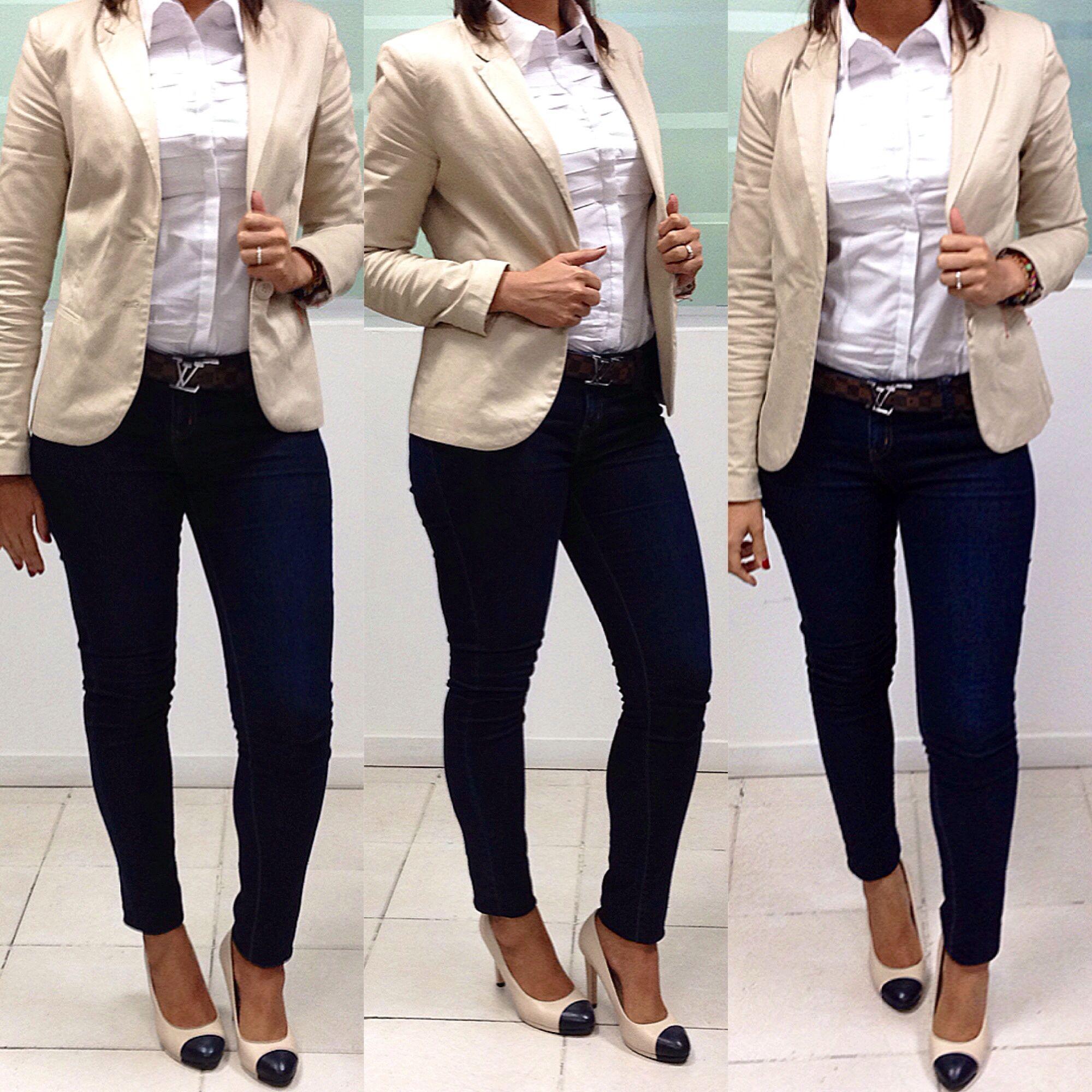Work outfit for a casual Friday- Friday Look for work | Vestimenta para un viernes casual en el ...