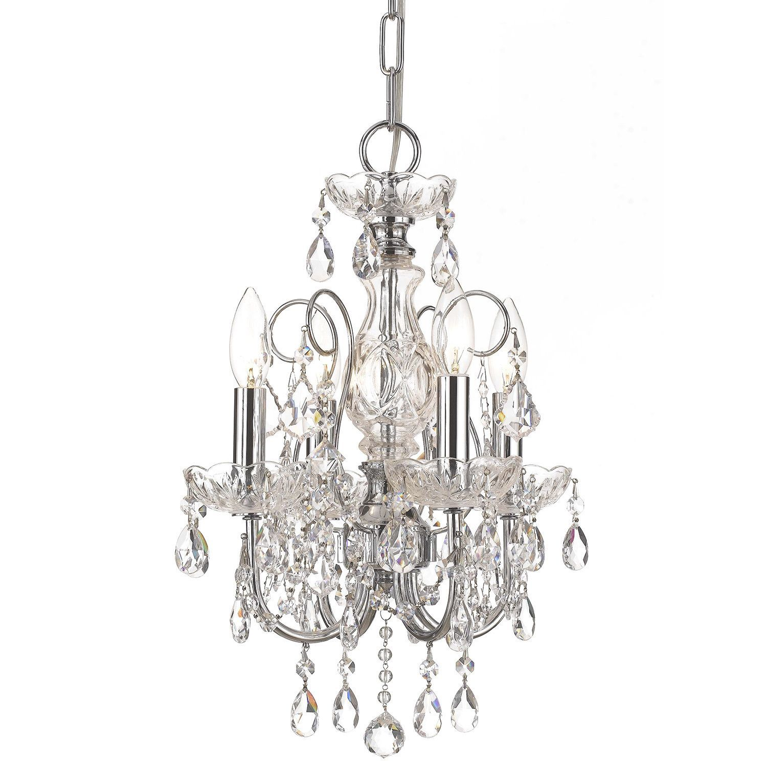 Crystorama imperial collection light polished chrome chandelier