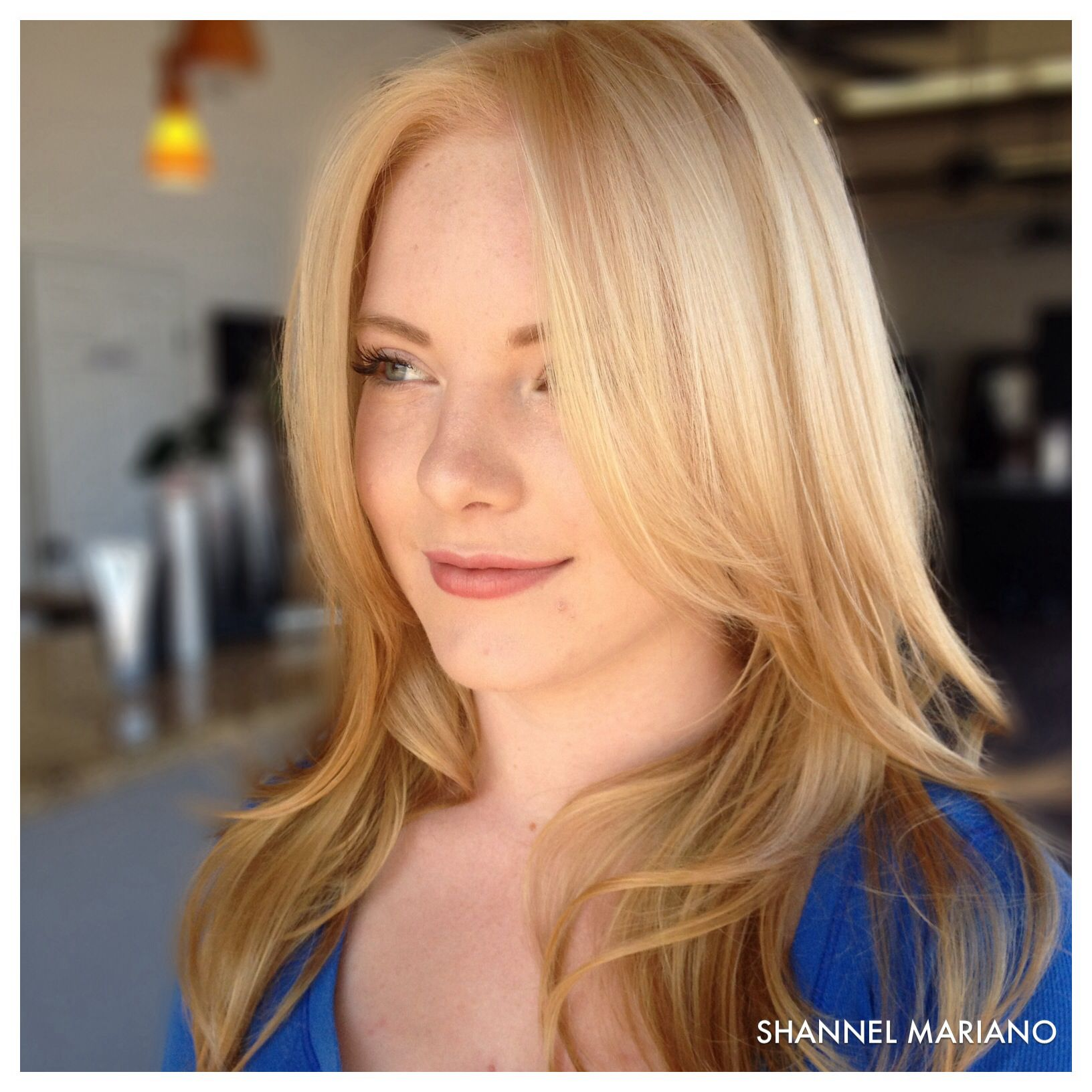 Blonde hair with dimension