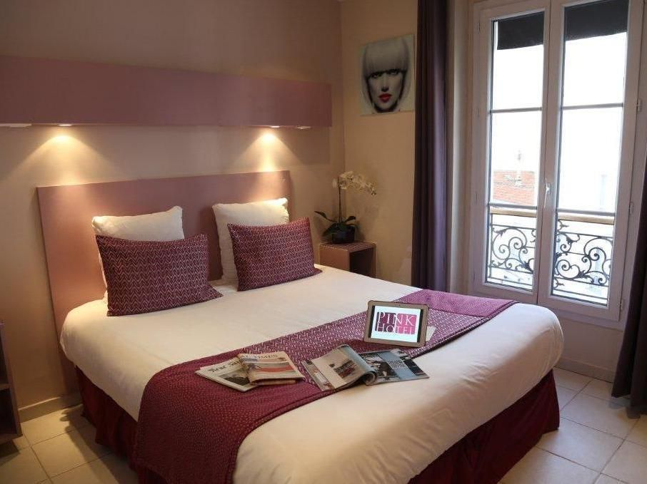 Paris Pink Hotel France, Europe The 2-star Pink Hotel offers comfort and convenience whether you're on business or holiday in Paris. Offering a variety of facilities and services, the hotel provides all you need for a good night's sleep. 24-hour room service, facilities for disabled guests, room service, airport transfer, business center are there for guest's enjoyment. Guestrooms are designed to provide an optimal level of comfort with welcoming decor and some offering conven...