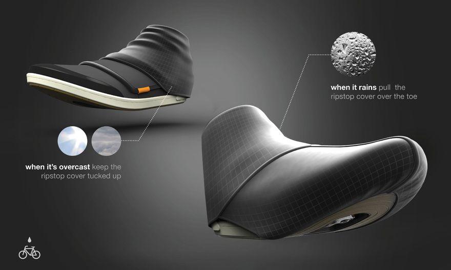 A Soggy Bike Commuter S Dream Shoe Cycling Shoes Futuristic Shoes Bike Shoes