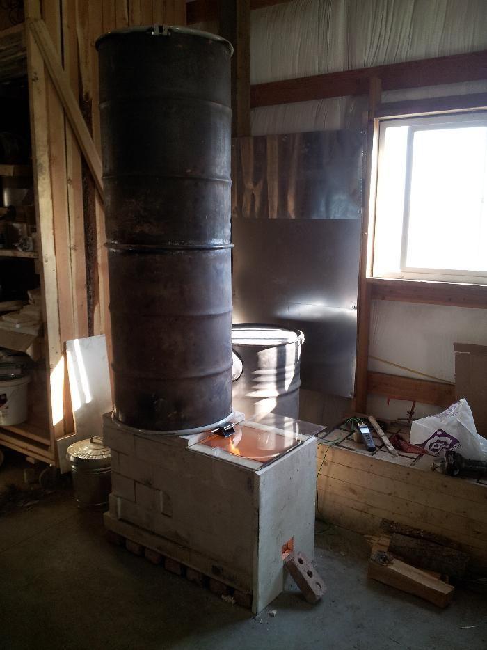 Batch Box Rocket Mass Heater Thumb Wood Stove Rocket