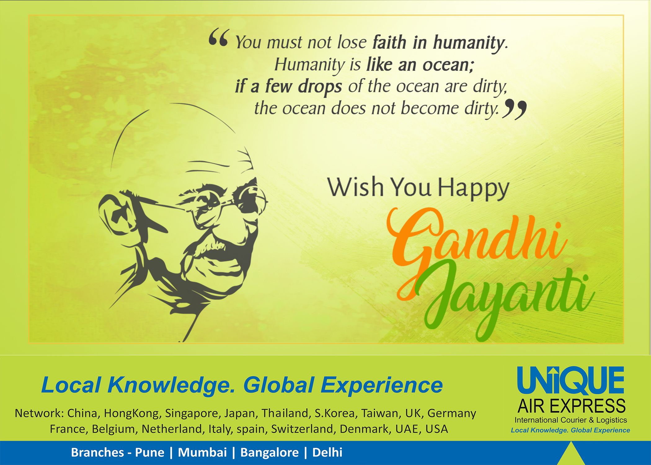 Mahatma Gandhi, a man who never believed in fight, but the