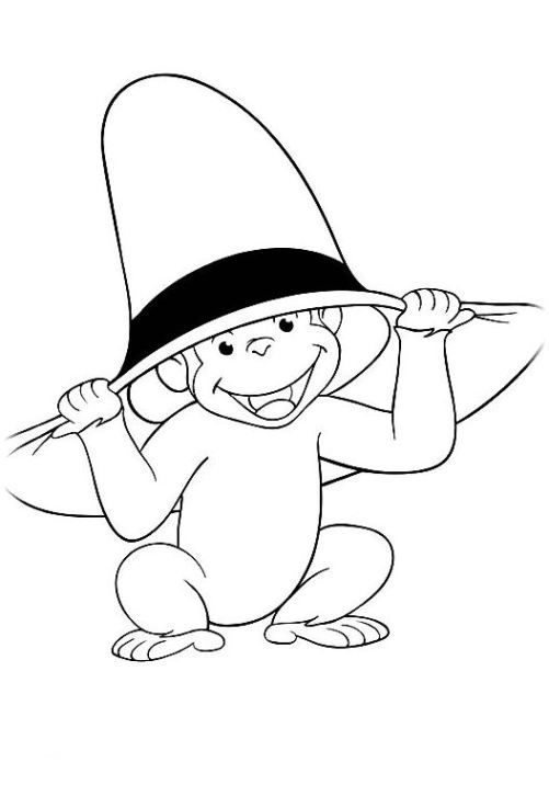 curious george jungle coloring pages - photo#33