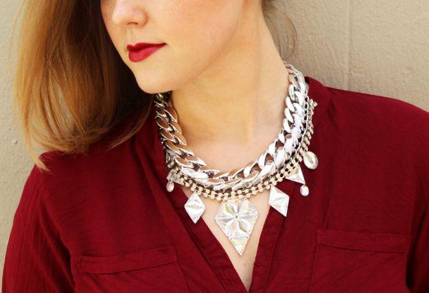 DIY maxi chain necklace Plan B anna evers
