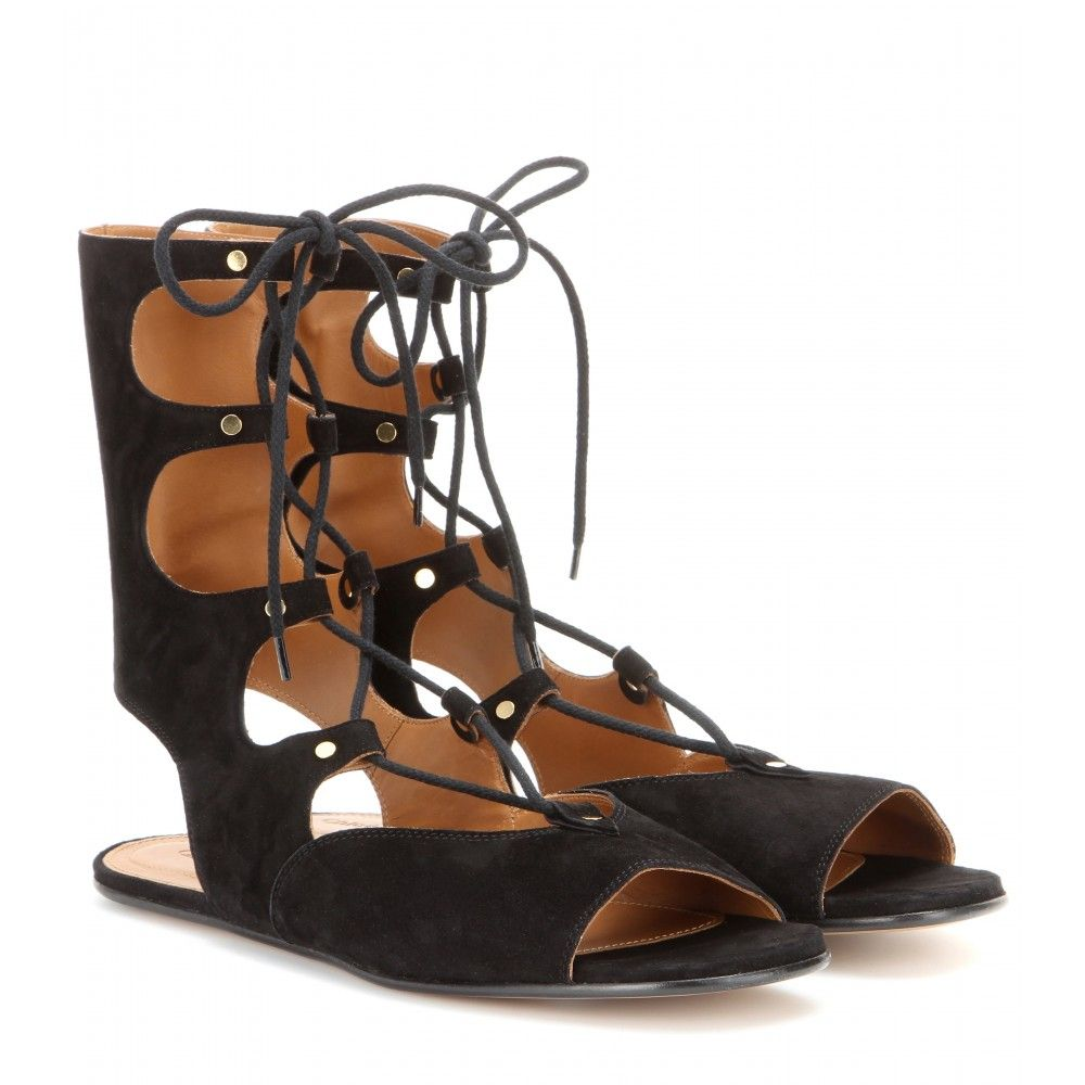 Leather and suede sandals Chlo VU27Sro9Qq
