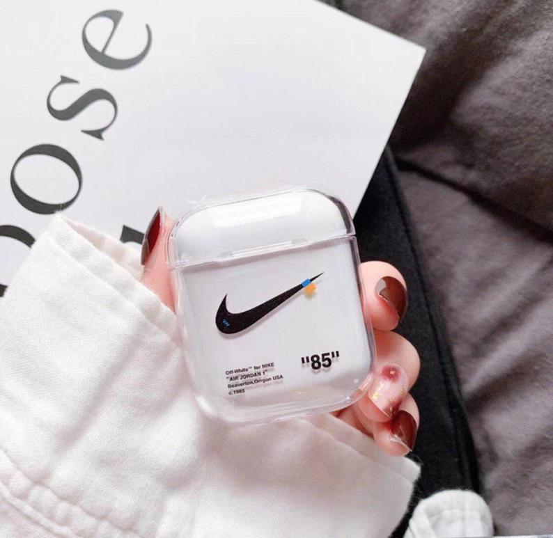 Nike X Off White Inspired Airpods Transparent Case Etsy
