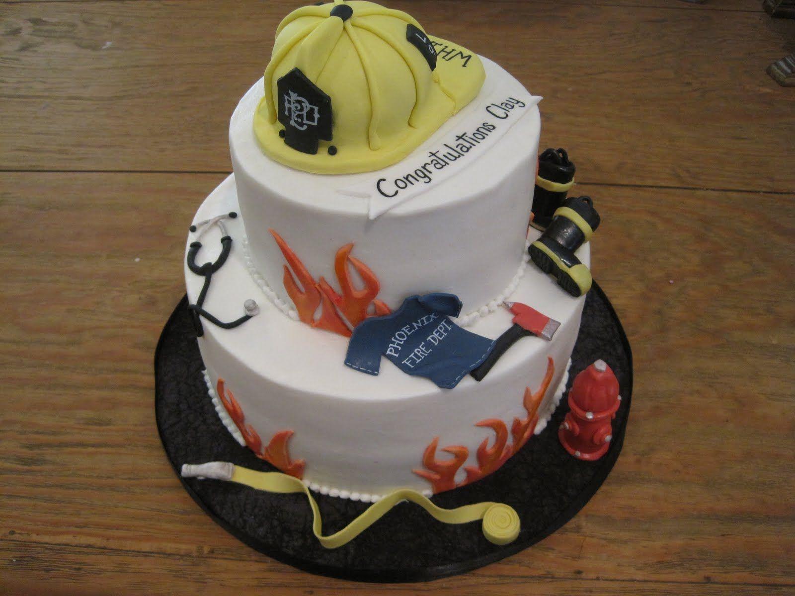 Fire Academy Graduation Cake Custom Cakes 5 Alarm Fire Baking