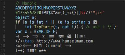 Monospaced Programming Fonts with Ligatures | WebDesign