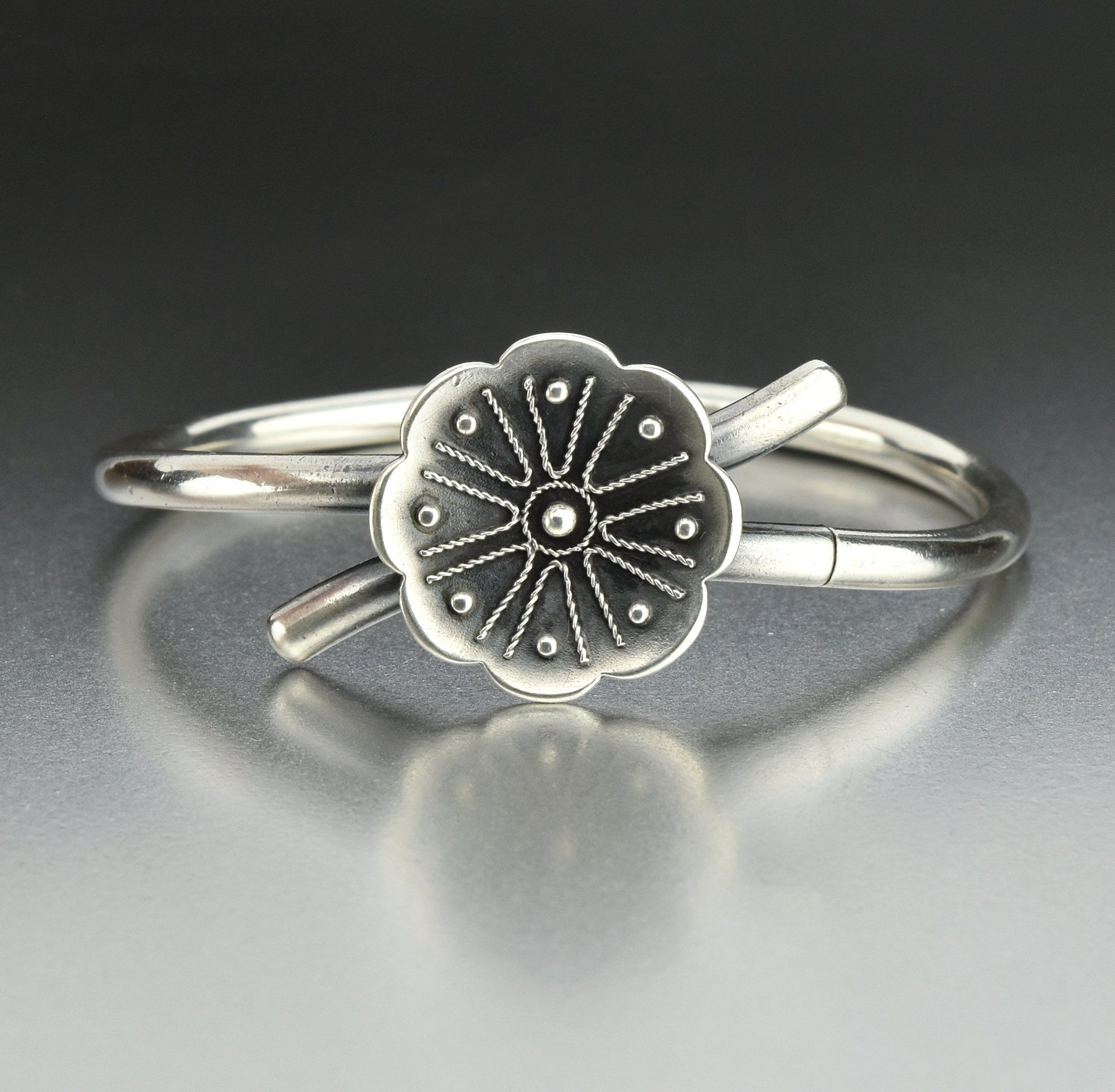 Flower Bypass Antique Victorian Silver Bracelet  #Sterling #Silver #Antique #Flower #Bracelet #Victorian #Simple #Quartz #Buy #Citrine