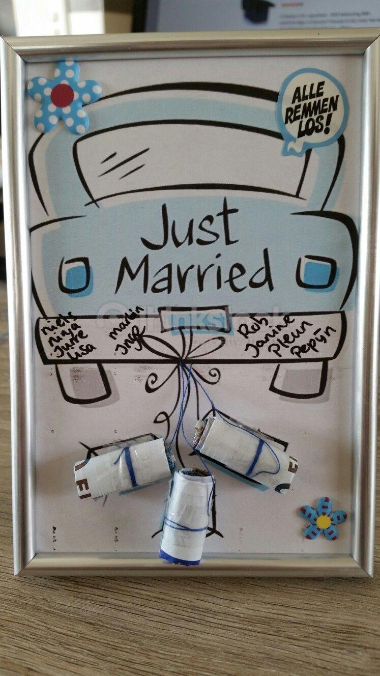 Cadeau geld bruiloft knutseltjes pinterest