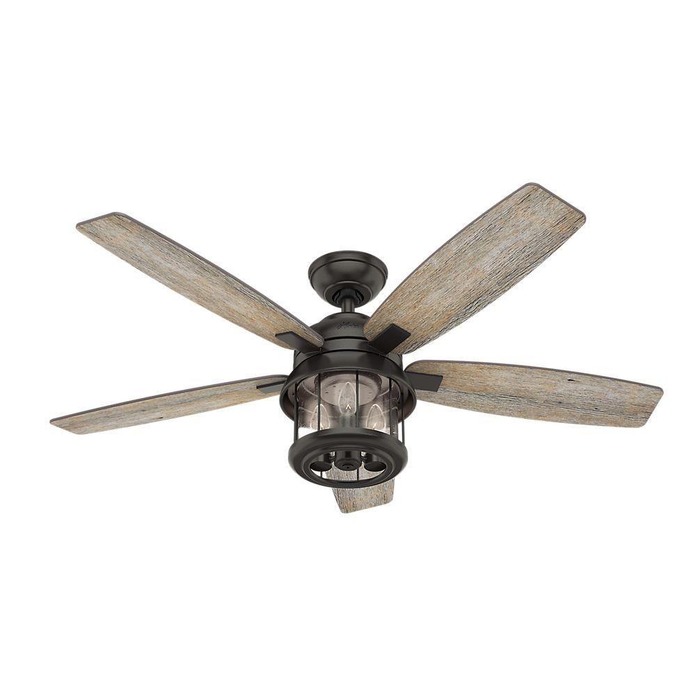 Hunter Fans 59420 Coral Bay 52 Ceiling Fan With Light Kit Outdoor Ceiling Fans Bronze Ceiling Fan Ceiling Fan