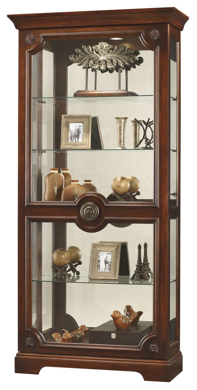 Ashford curio cabinet in cherry howard miller furniture home