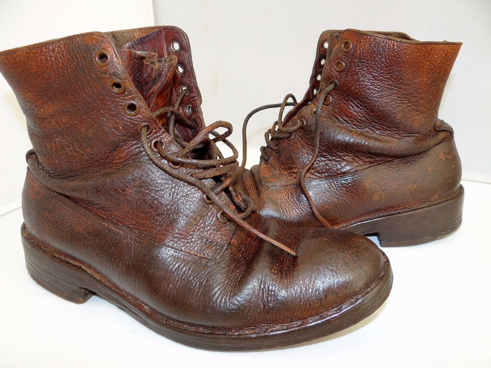 These are original WWII boots from the late 1930's. All