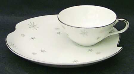 Snack Plate And Cup Set in the Snowflake pattern by Japan China $8.99 & Snack Plate And Cup Set in the Snowflake pattern by Japan China ...