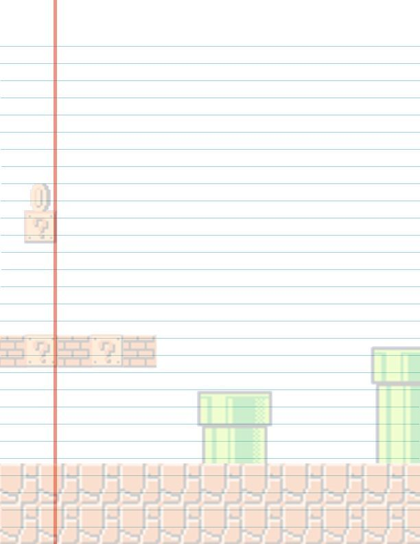 Mario Lined Stationary by http\/\/maybirdfandeviantart on - blank line paper