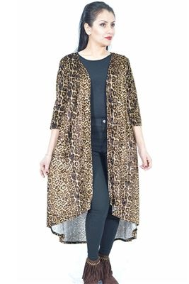 Leopard Print High / Low Velvet Cardigan available at www.DirtRoadDivaBoutique.com