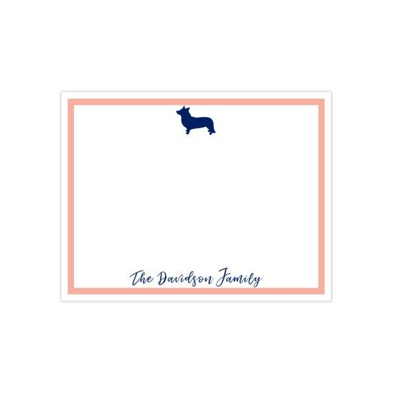 Dog Silhouette Note Cards (Personalized Stationery, Thank You Card, Printable Thank You Card, Person #businessthankyoucards
