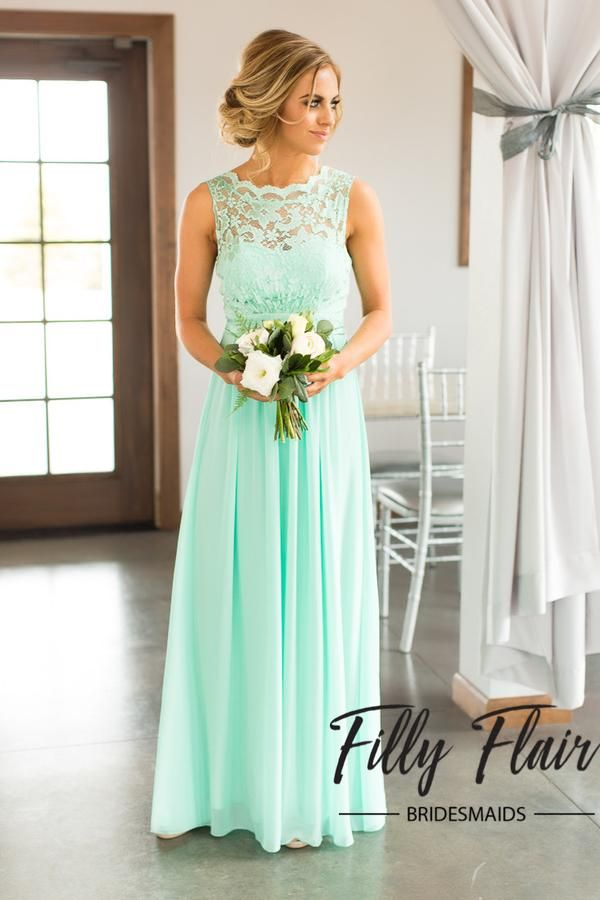 Mint Bridesmaid Dress Not The Color But Design