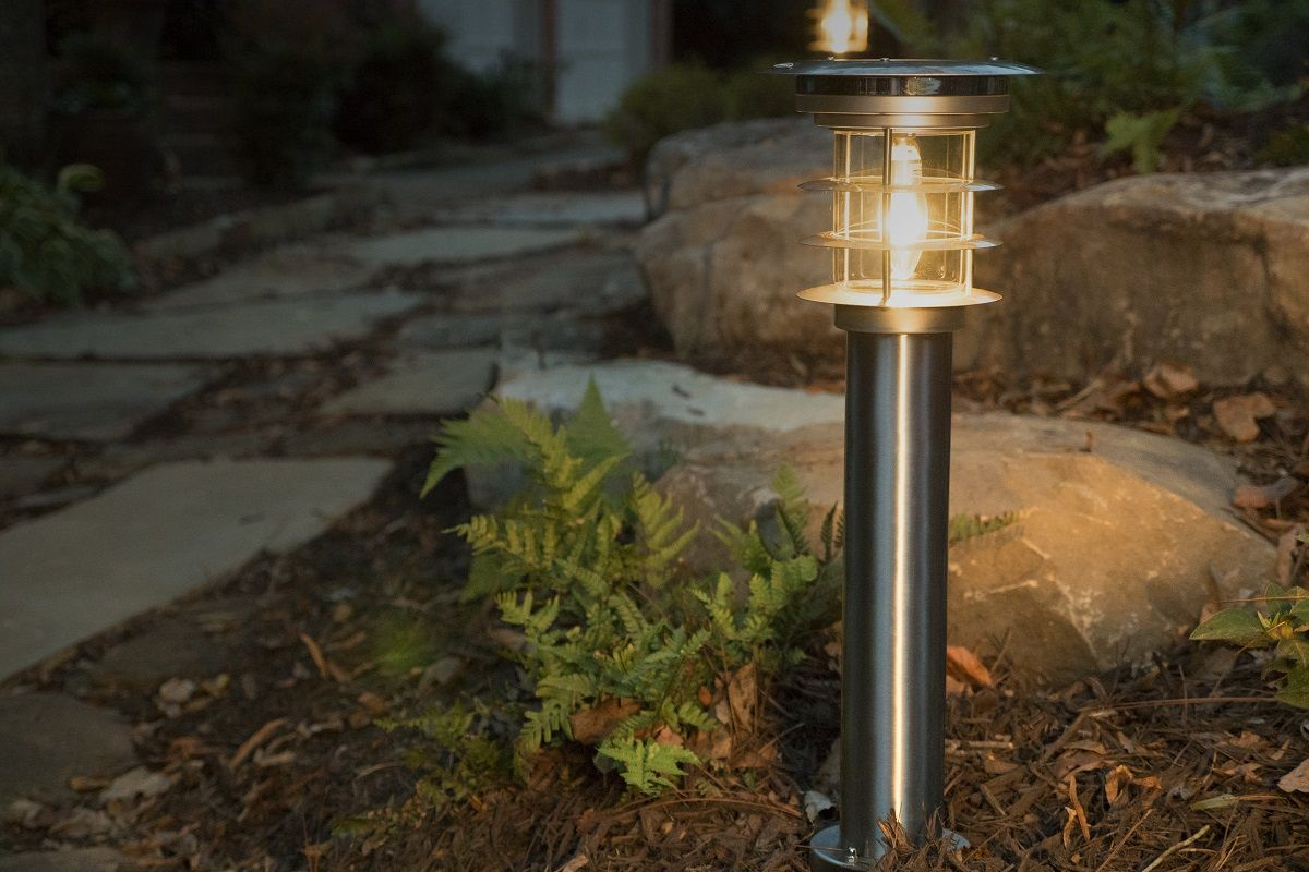 Stainless Steel Bollard Solar Lamp GS-214 with EZ Anchor | Pinterest ...