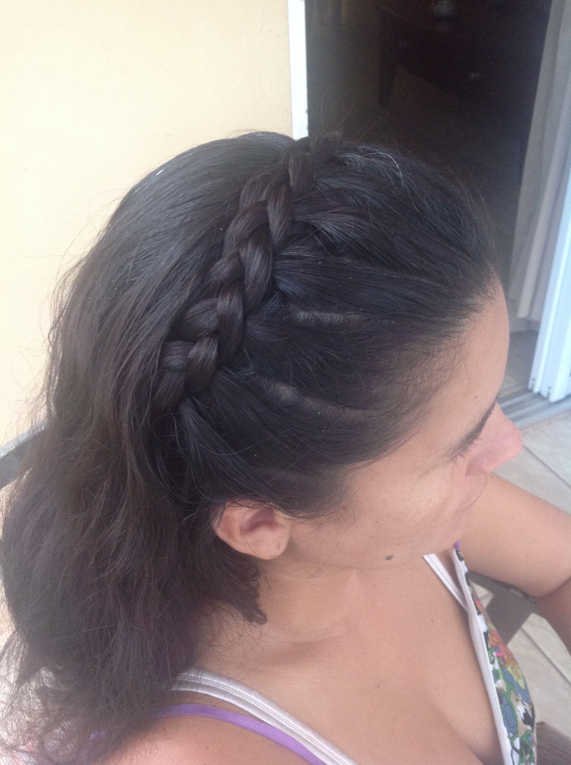 Lace braided headband cute braids pinterest lace braid