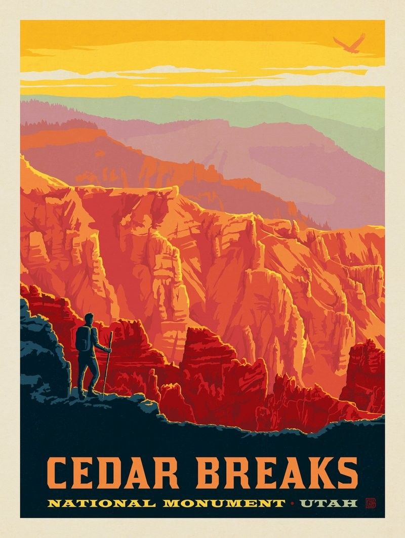 Anderson Design Group American National Monuments National Park Posters Vintage Travel Posters National Monuments