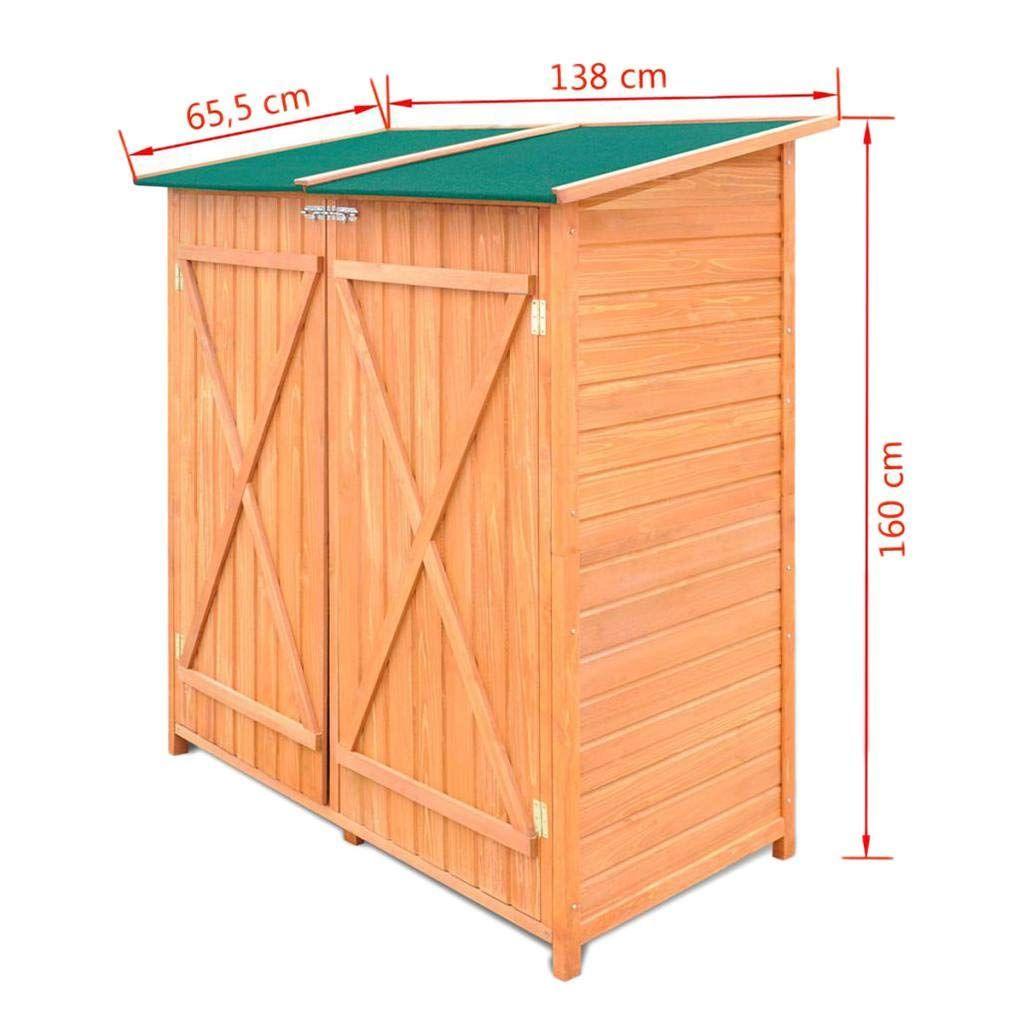 Irene Wood Storage Garden Shed Solid Wooden Garden Tools Organizer Room Yard Outdoor Storage Cabinet Garden Tool Shed Wooden Sheds Garden Tools