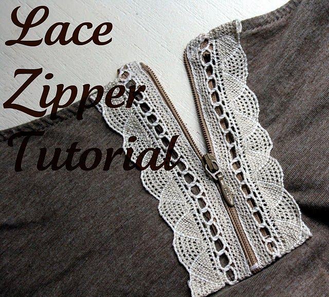 lace zipper detail