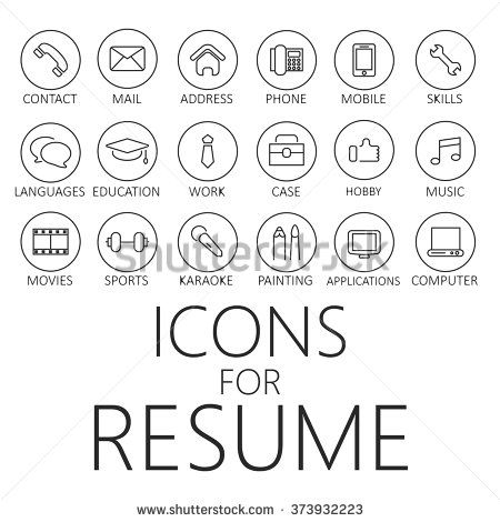 thin line icons pack for cv resume job - Free Resume Icons