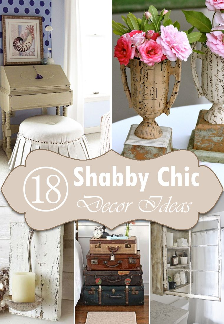 charming Diy Shabby Chic Decorating Ideas Part - 3: In this article we have collected 18 different DIY shabby chic decor ideas  for those, who Love The Retro Style.