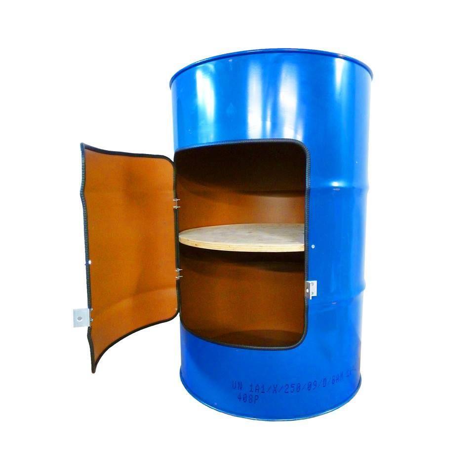 Industriële kast van een olievat. http://www.indusigns.nl/