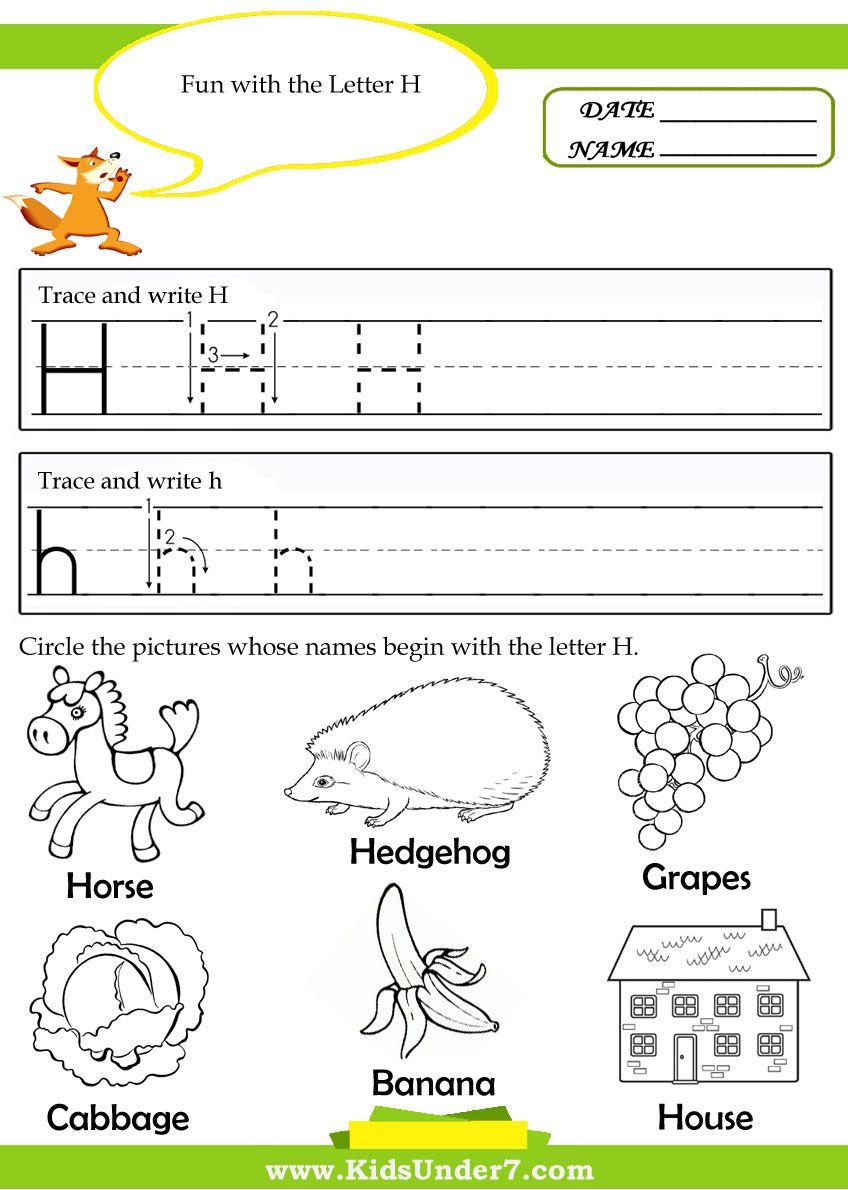Letter H Worksheets For Prek Letter H Alphabet Letter H Worksheets Letter Recognition Worksheets Alphabet Worksheets Kindergarten [ 1190 x 848 Pixel ]