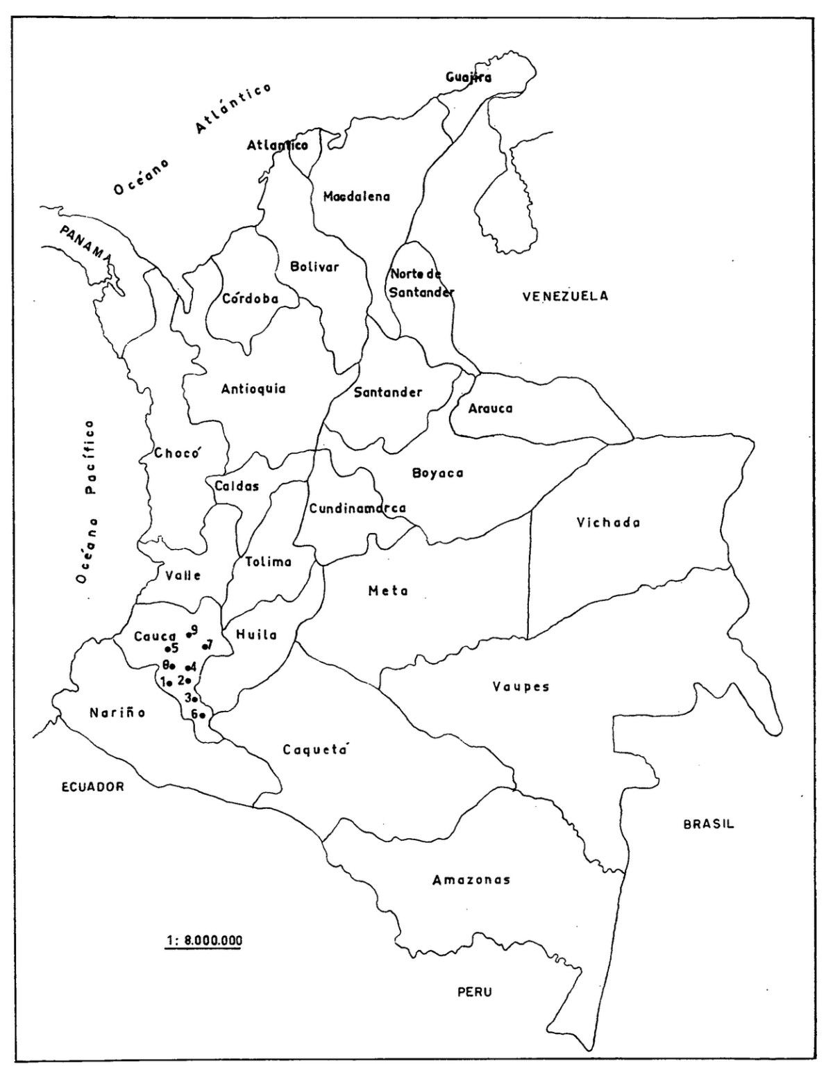 Información e imágenes con Mapas de COLOMBIA Político, Físico y para ...